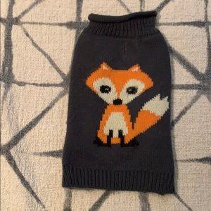 Cute fox dog sweater , SZ XS